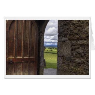 Looking Through The Door Card