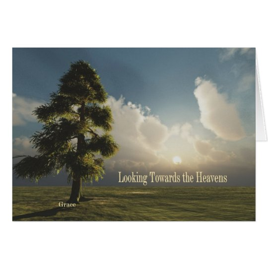Looking Towards the Heavens Notecard