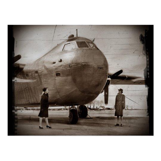 Looking Up at Bomber Postcard