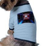 Looking up from a child's prospective dog clothing