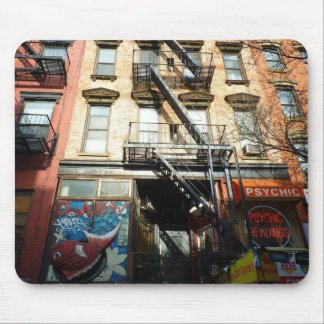 Looking Up, St. Mark's Place, East Village Mouse Pad