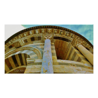 Looking Up the Leaning Tower, Wrapped Canvas Print