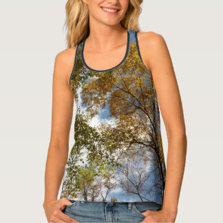Looking Up to Fall Leaves II Tank Top