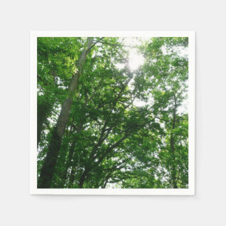Looking Up to Summer Trees Disposable Napkin