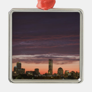 Looking west from South Boston at sunset Christmas Ornament