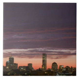 Looking west from South Boston at sunset Tile