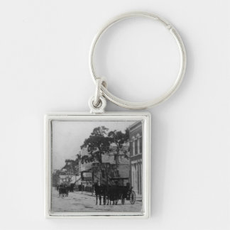 Looking West On Flagler Street Key Ring