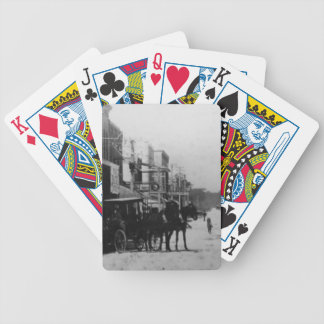Looking West On Flagler Street Poker Cards