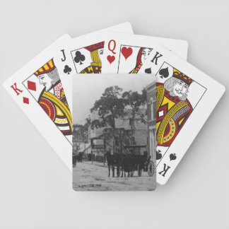 Looking West On Flagler Street Playing Cards