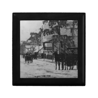 Looking West On Flagler Street Small Square Gift Box