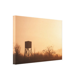 Lookout point in the morning sunrise canvas print