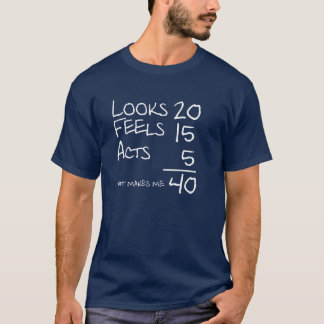 Looks, Feels, Acts 40 Birthday Tee