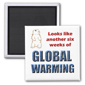Looks like another six weeks of global warming square magnet