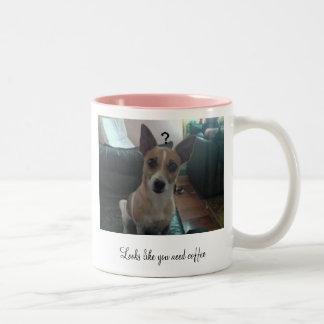 Looks like you need coffee Two-Tone mug