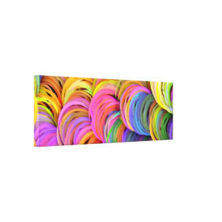 Loom inspired abstract art canvas print