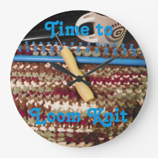 Loom Knitter's Clock, knits Wall Clocks