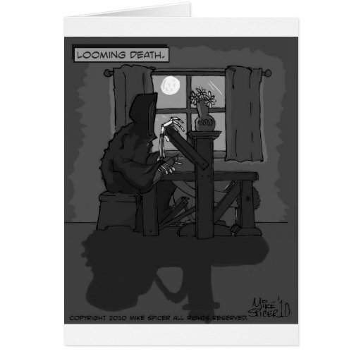 Looming Death Greeting Cards
