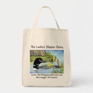 Loon and fairy shopping bag