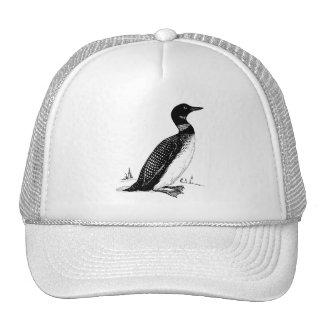Loon Bird Illustration Trucker Hat