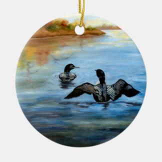 Loon Dance II Ornament