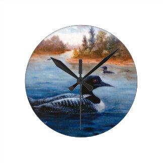 Loon Lake Round Clock
