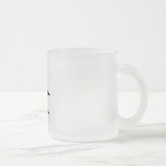 loon frosted glass mug