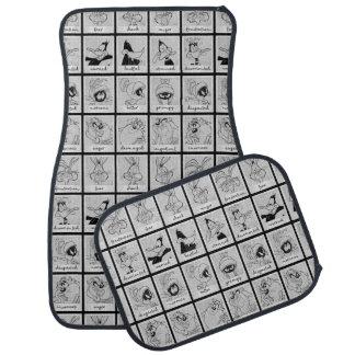 LOONEY TUNES™ Character Emotion Chart Car Mat