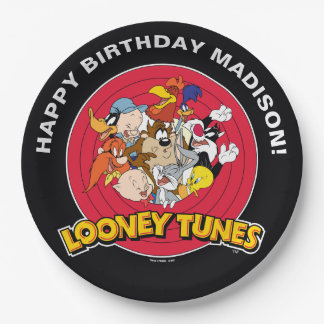 LOONEY TUNES™ Character Group   Birthday 9 Inch Paper Plate