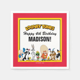 LOONEY TUNES™ Character Group | Birthday Disposable Serviette