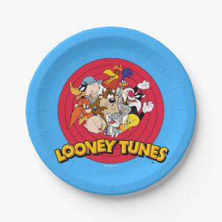 LOONEY TUNES™ Character Logo 7 Inch Paper Plate