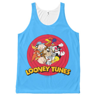 LOONEY TUNES™ Character Logo All-Over Print Tank Top
