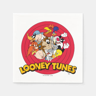 LOONEY TUNES™ Character Logo Paper Serviettes