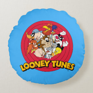 LOONEY TUNES™ Character Logo Round Cushion