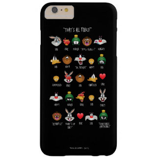 LOONEY TUNES™ Emoji Chart Barely There iPhone 6 Plus Case