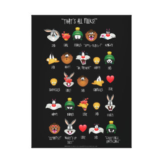 LOONEY TUNES™ Emoji Chart Canvas Print