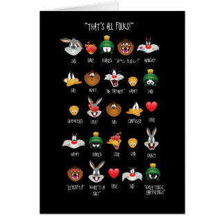 LOONEY TUNES™ Emoji Chart Card
