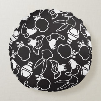 LOONEY TUNES™ Head Outlines Pattern Round Cushion