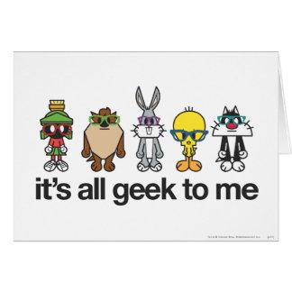 LOONEY TUNES™ Nerds - All Geek Greeting Card