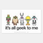 Looney Tunes Nerds - All Geek Rectangular Stickers
