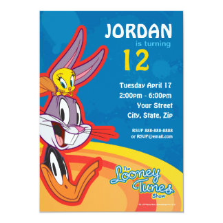 Looney Tunes Show Birthday 13 Cm X 18 Cm Invitation Card