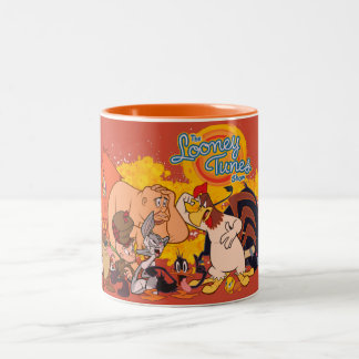 Looney Tunes Show Cast & Logo Two-Tone Coffee Mug