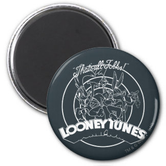 LOONEY TUNES™ That's All Folks 6 Cm Round Magnet