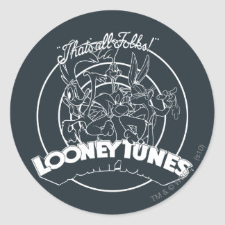 LOONEY TUNES™ THAT'S ALL FOLKS!™ CLASSIC ROUND STICKER