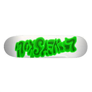 LooneySkull-Green 21.3 Cm Mini Skateboard Deck