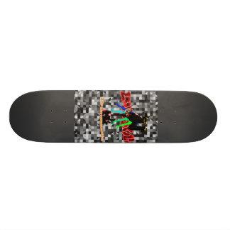 LooneySkullRUD: Cuatro-Skull 20 Cm Skateboard Deck