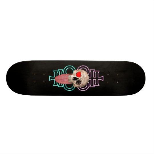 LooneySkullRUD: Lovely-Skull Leviathan Cross 21.6 Cm Old School Skateboard Deck