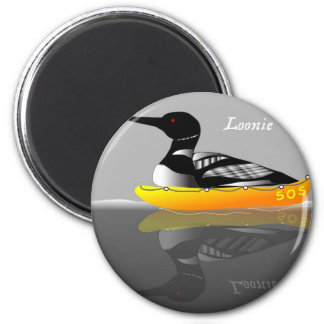 Loonie The Loon 6 Cm Round Magnet