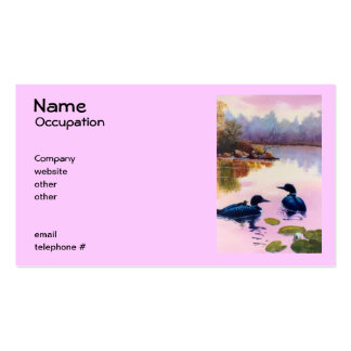 Loons At Twilight Business Cards
