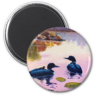Loons At Twilight Magnet