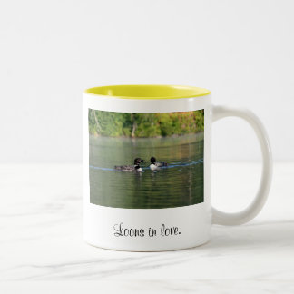 Loons in Love Two-Tone Coffee Mug